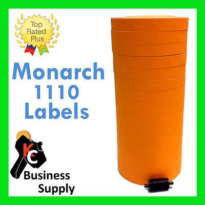 17000 Labels Fl Orange For Monarch 1110 16 Rolls - 1 Sleeve