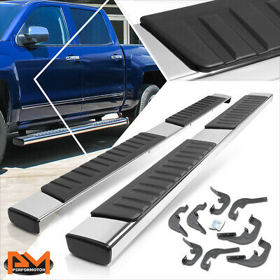 "For 07-19 Silverado/Sierra Crew Cab 6"" Side Step Nerf Bar Running Board Chrome"