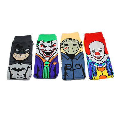 Batman Socks (Newest Cartoon Character Clown Black Friday Batman Men's Skateboarding)