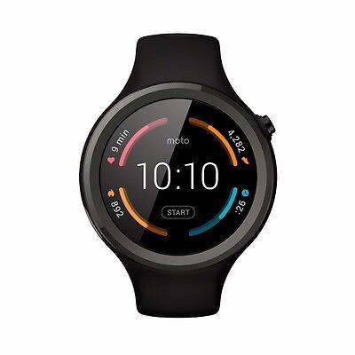 NEW Motorola Moto 360 Sport 2nd Generation Smartwatch - Black - ANDROID/IOS