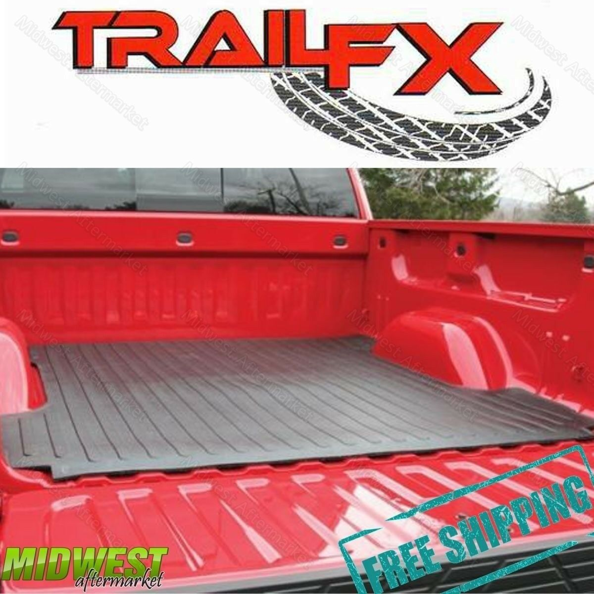 TrailFX Drop In Rubber Truck Bed Mat Fits 1999-2011 Ford Ranger 6/' Bed