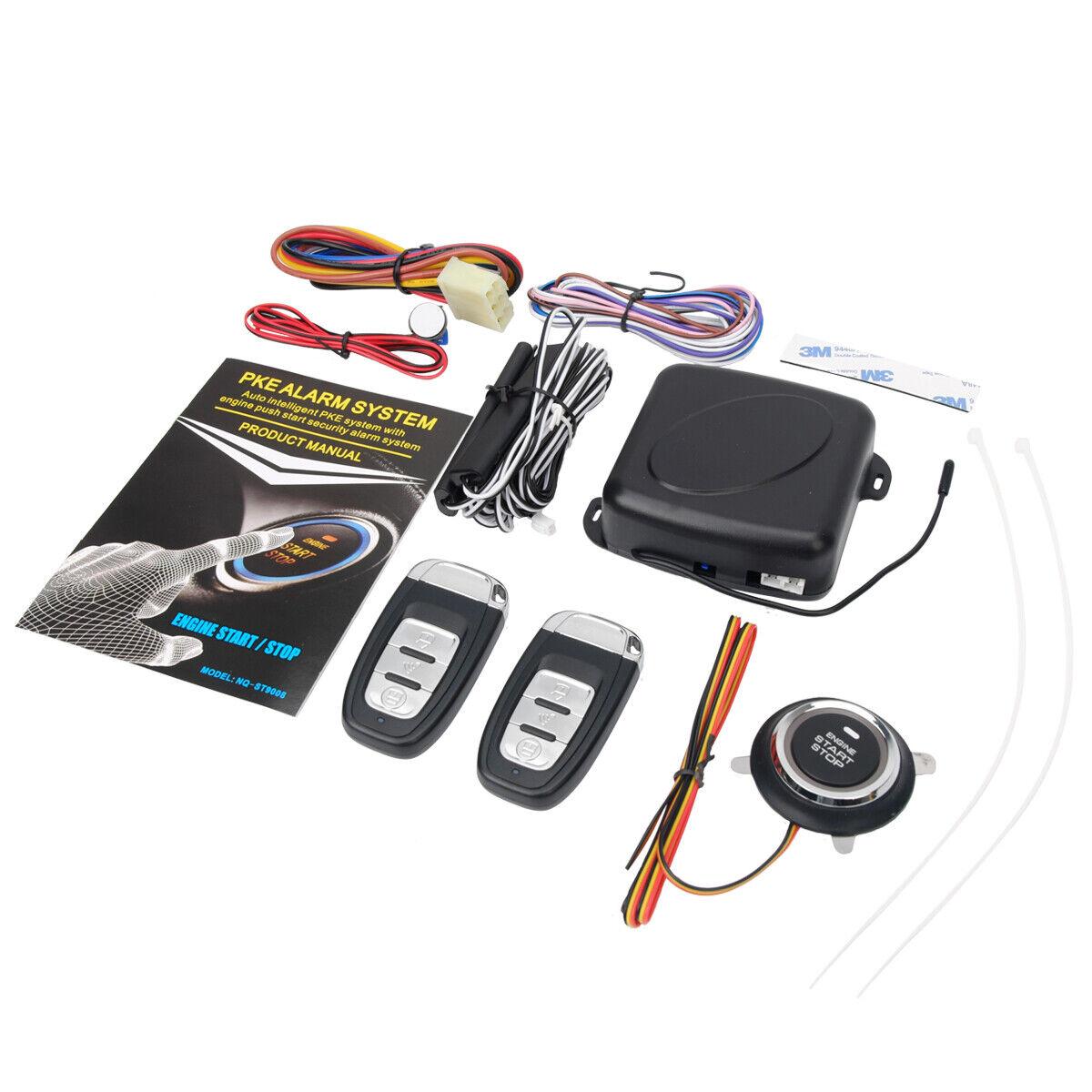 9pcs Car Keyless Entry Engine Start Alarm System Push