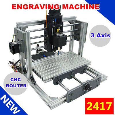 Desktop 2417 Mini Engraving Machine Milling Engraver Cnc Router Pcb Metal Diy