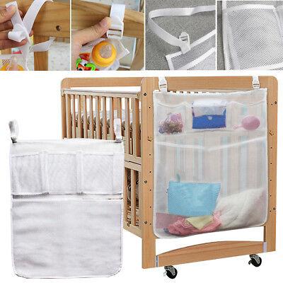 Baby Crib Cot Bedside Hanging Storage Bag Clothes Diaper Nap