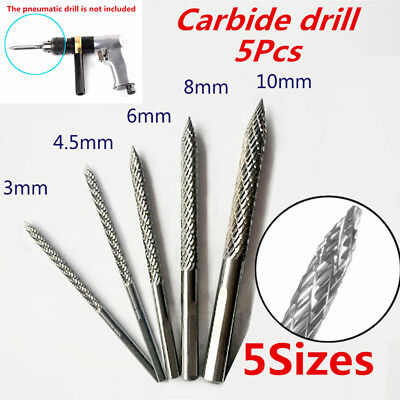 5Pcs 5 Sizes Carbon Steel Mushroom Nail Car Tire Repair Pneumatic Drill Bit Burr