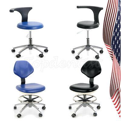 4 Models Pu Leather Adjustable Stool Dentist Chair Hydraulic Rolling Stool Ups