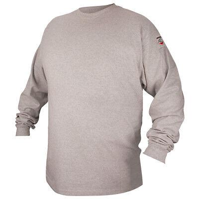 Black Stallion Ftl6-gry Gray Fr Cotton Long-sleeve T-shirt Medium