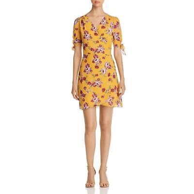Allen Schwartz Womens Floral Print V-Neck Tie-Front Wrap Dress BHFO 2444