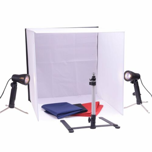 """FLEXIMOUNTS 20""""x 20"""" Square Photography Photo Studio Set with Lights & Stand"""