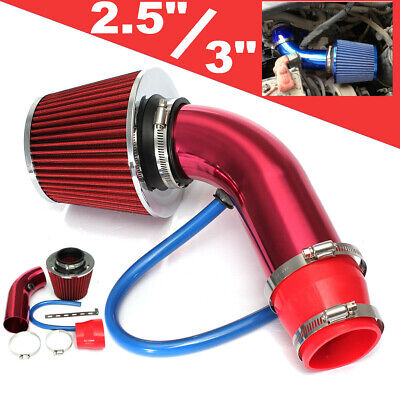 2.5'' - 3'' Universal Cold Air Intake Induction Hose Pipe Set System Filter US