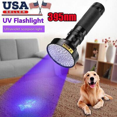 100 LED UV Ultra Violet Blacklight Flashlight Torch Inspection Light Outdoor USA