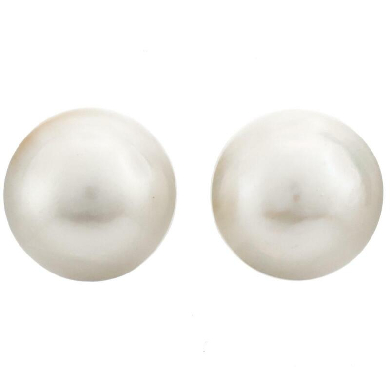 18MM LOOSE MATCHED PAIR WHITE MABE SOUTH SEA CULTURED pearl