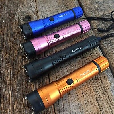 4 LOT Assorted MONSTER Stun Gun 16 Million Volt Rechargeable, LED Flashlight
