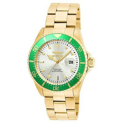 New Mens Invicta 22067 Pro Diver Gold Tone Bracelet Watch