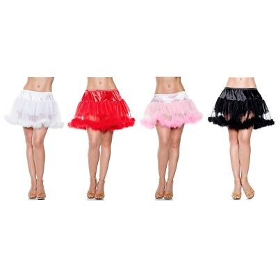 Marabou Petticoat Std/Plus Size Maribou Trim Halloween Fancy Dress Costume Asry