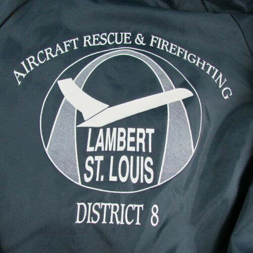Lambert St Louis Airport Aircraft Rescue Firefighting Windbreaker Jacket 1980s