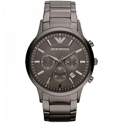 Emporio Armani AR2454  Metal Grey Stainless Chronograph Men's Watch