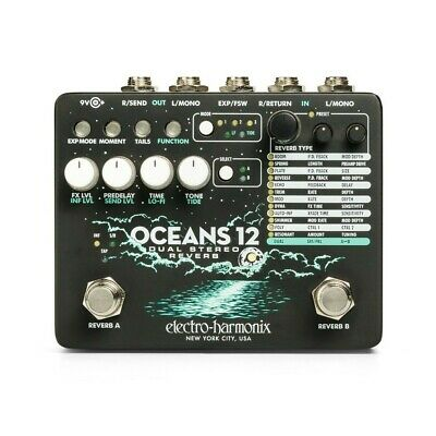 Electro Harmonix Dual Stereo Reverb - EHX Guitar Effect Pedal - Oceans 12