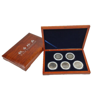 Used, Oak Wood Coin Display Case Box Storage Slab Collectible Container 51mm Holder for sale  Shipping to Canada