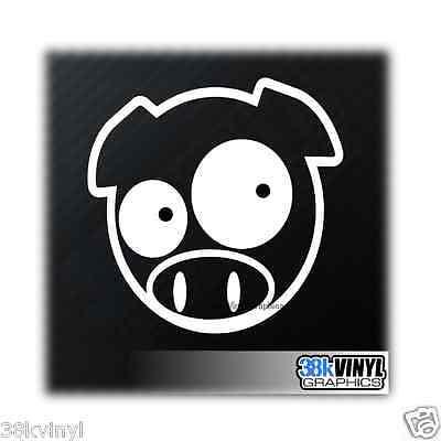 MANGA PIG Funny Novelty Car/Window/Bumper JDM Drift DUB Vinyl Decal Sticker