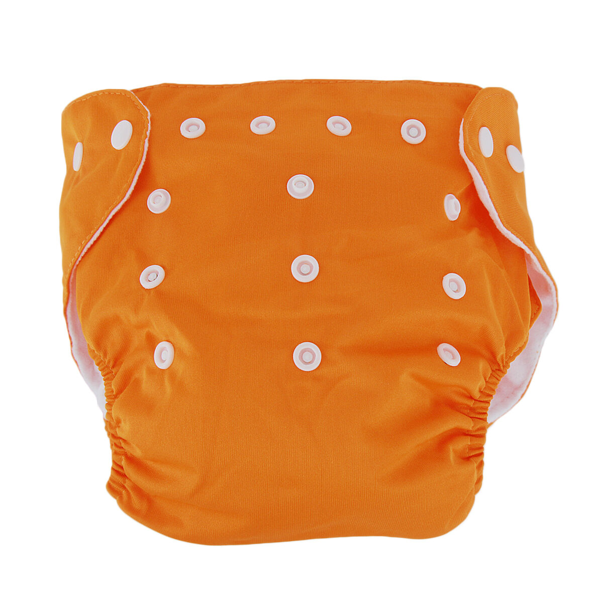 5pcs+ 5Inserts Adjustable Reusable Baby Washable Infant Nappy Soft Cloth Diapers Orange