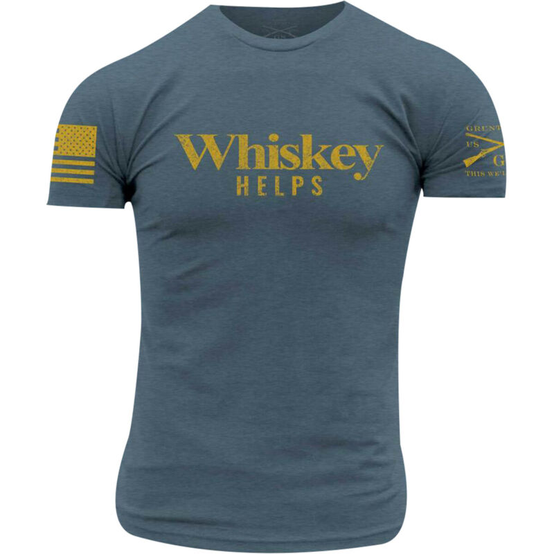 Grunt Style Whiskey Helps T-Shirt - Indigo
