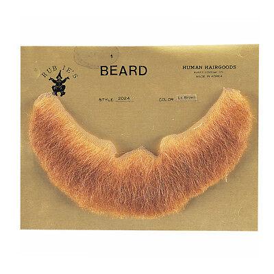 Light Brown Full Character Beard Human Hair Costume Halloween Accessory - Bearded Characters Halloween