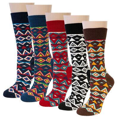Wrapables® Unisex Colorful Designs Trouser Socks (Set of 5), Diamond Pattern Diamond Pattern Trouser Socks
