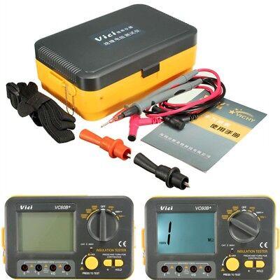 Vc60b Digital Insulation Resistance Tester Megger Megohm Meter 1999m 2501000v