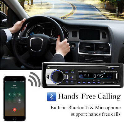 Bluetooth Car Stereo Audio In-Dash FM Aux Input Receiver SD USB MP3 Radio Player 2