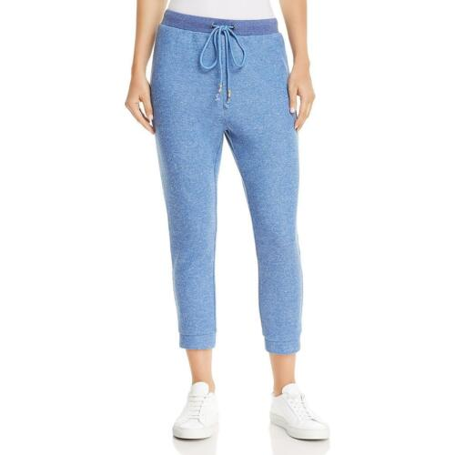 $260 Honey Punch Women'S Sky Blue Stretchy Cropped Casual Sw