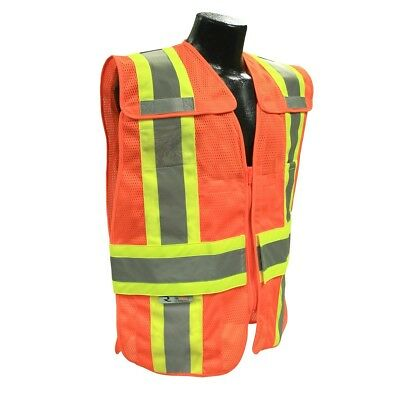- Radians Class 2 Expandable Two-Tone Safety Vest with Pockets, Orange