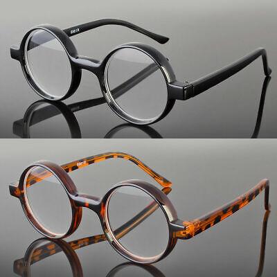 New Round Oval Black Tortoise Reading Glasses Readers John Lenon Harry (Tortoise Glasses Men)