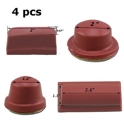 4 Pcs Pad Printing Rubber Head Soft Silicone Pad Print Tool Brandnew Per Set