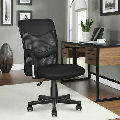 Modern Mesh Ergonomic Office Chair Mid-back Executive Computer Desk Chair Black