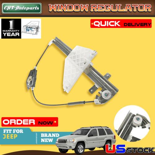 Rear Left Driver Side Power Window Regulator without Motor for Jeep Grand Cherokee WJ 2001-2004