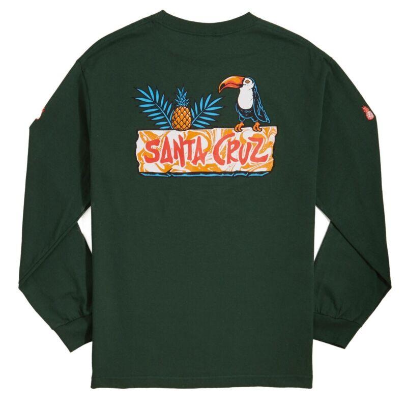 Santa Cruz TOUCAN PLAY LONG SLEEVE Skateboard Shirt FOREST GREEN XL