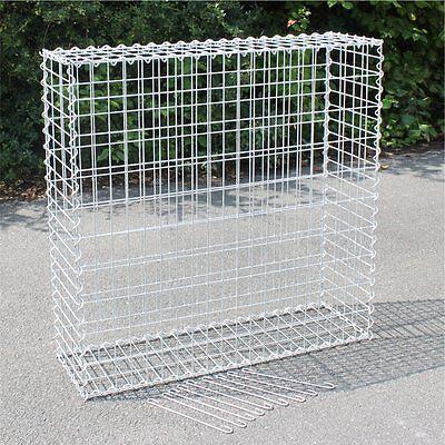Gabione 100x100x30 cm Steingabionen Steinkorb Mauer Gabionen Maschung 10x5 cm