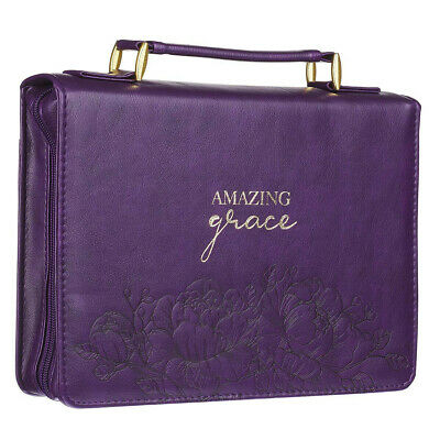 Purple Bible Cover (Amazing Grace Purple Faux Leather Fashion Bible)