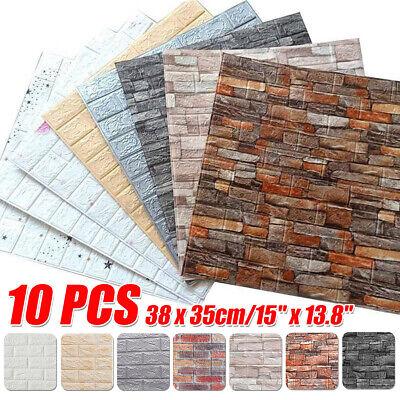 Muro Finto Pannelli 3D Adesivi effetto mattone pietra da Parete 38x35cm 10 Pz.