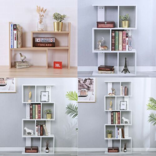Bookcase Desktop Shelf Desk Bookshelf Storage Organizer Wood