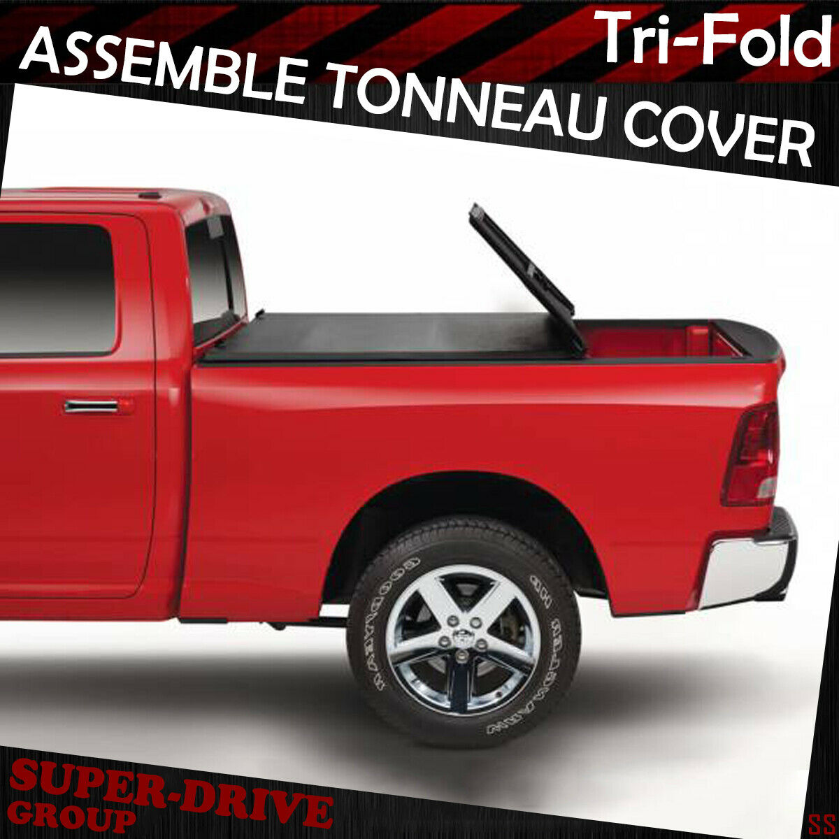 Fit 2007-2013 Chevy Silverado 6.5 ft Bed Tri-Fold Soft Tonneau Cover Assemble