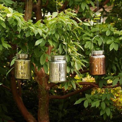 Inside Garden Set of 3 Colored Glass Jars with Mini LED Lights  English Garden 3 Light