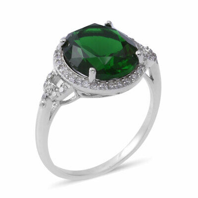 925 Sterling Silver Green, Cubic Zirconia CZ Ring Gift Jewelry for Women