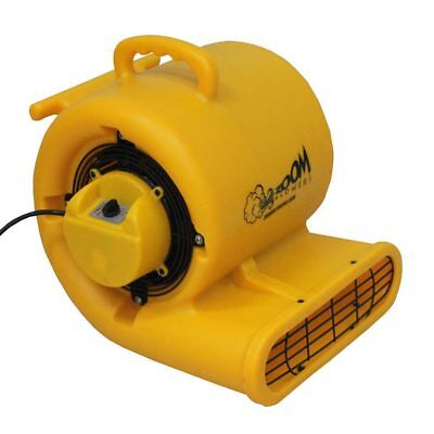 Zoom 13 Hp Floor Dryer 3 Speed Portable Air Blower Wet Room Carpet 1200 Cfm Fan