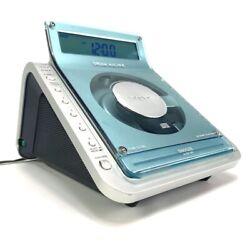 Sony Dream Machine ICF-CD855V CD Alarm Clock Radio Player Snooze Tested Works