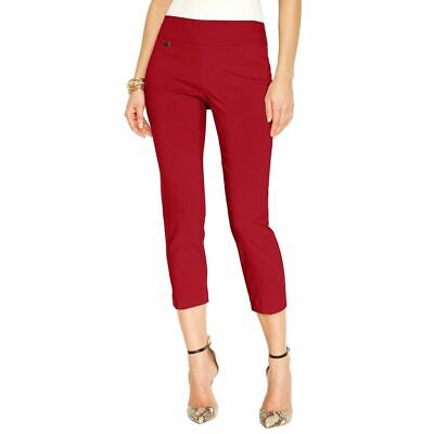ALFANI NEW Women's Pull-on Tummy Control Capri Cropped Pants TEDO
