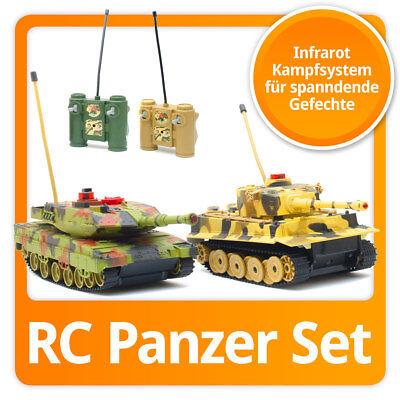 RC Infrarot Panzer-Set: R/C Tiger Kampfpanzer mit Infarot Kampfsimulation, Sound