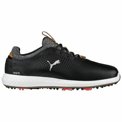Puma Golf Ignite PWradapt Leather Golf Shoes Black Or White 190581 02 01