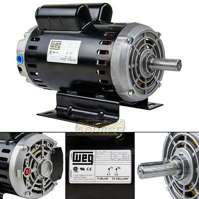 6.4 Hp 3450 Rpm Single Phase 240v 56 Frame Electric Air Compressor Motor 78